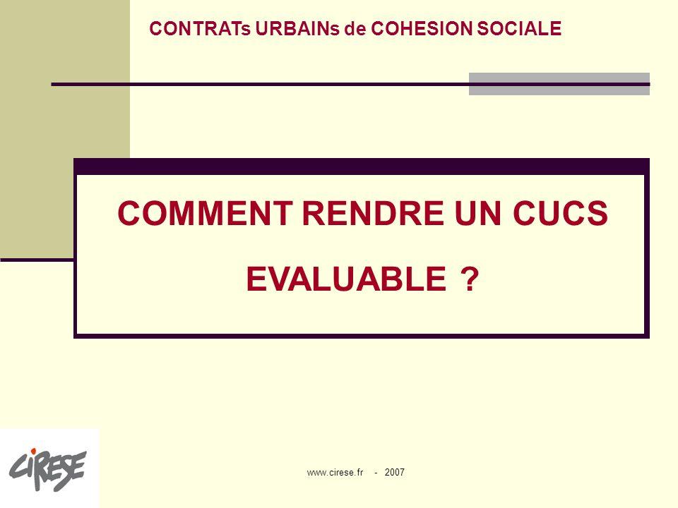 CONTRATs URBAINs de COHESION SOCIALE