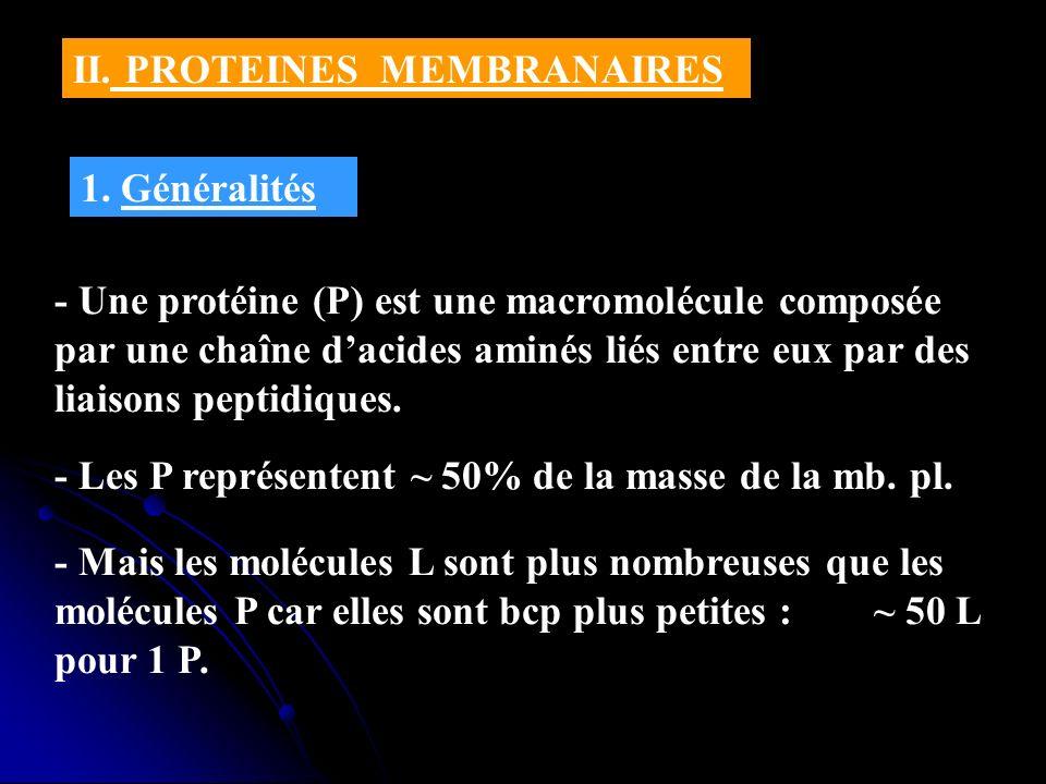 II. PROTEINES MEMBRANAIRES