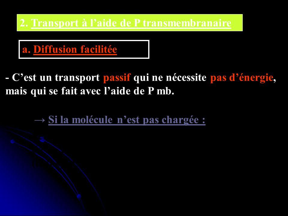 2. Transport à l'aide de P transmembranaire