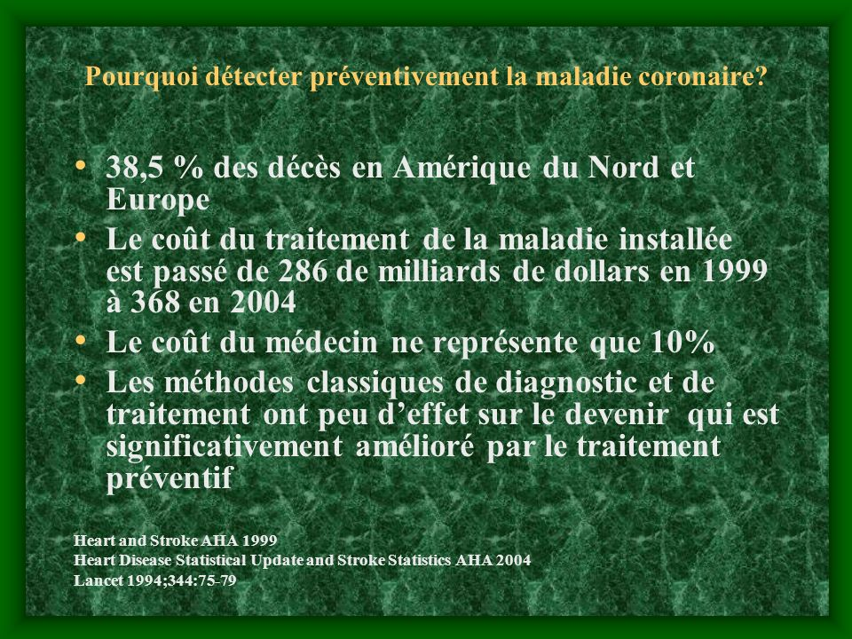 Pourquoi détecter préventivement la maladie coronaire