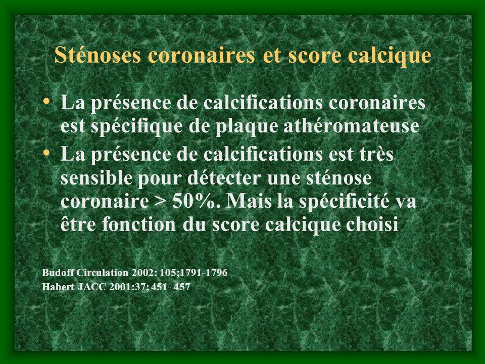 Sténoses coronaires et score calcique