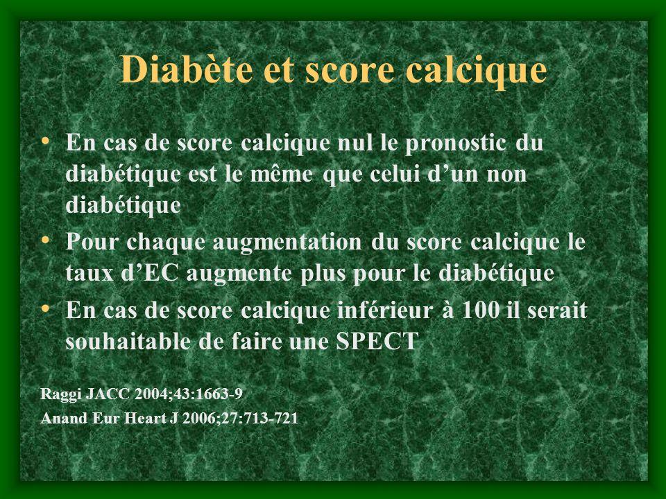 Diabète et score calcique