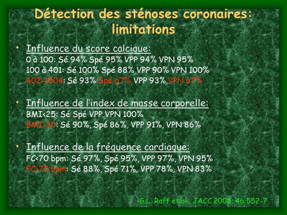 Détection des sténoses coronaires: limitations