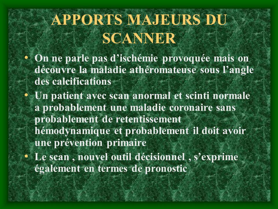 APPORTS MAJEURS DU SCANNER