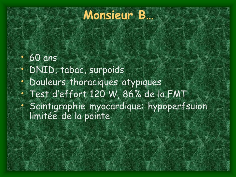 Monsieur B… 60 ans DNID, tabac, surpoids