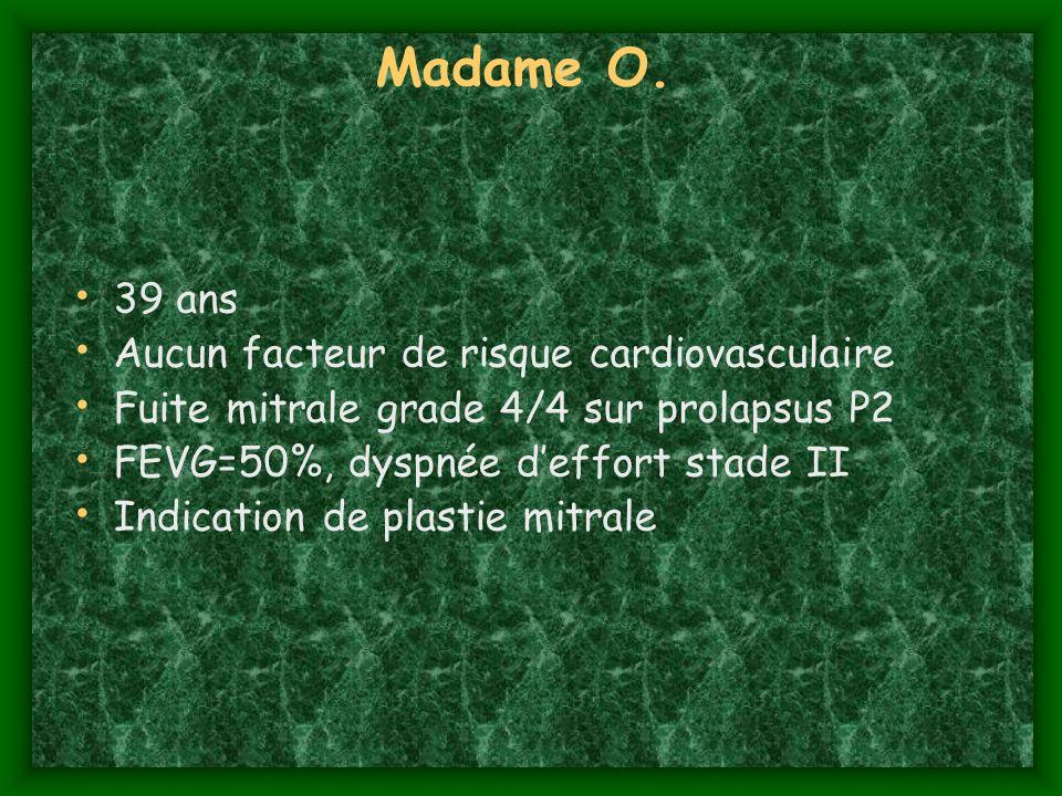 Madame O. 39 ans Aucun facteur de risque cardiovasculaire