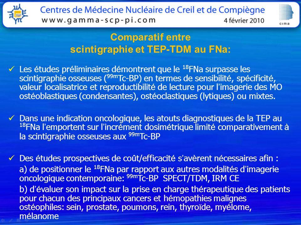 scintigraphie et TEP-TDM au FNa: