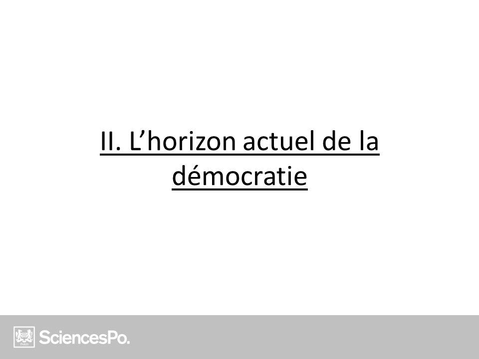 II. L'horizon actuel de la démocratie