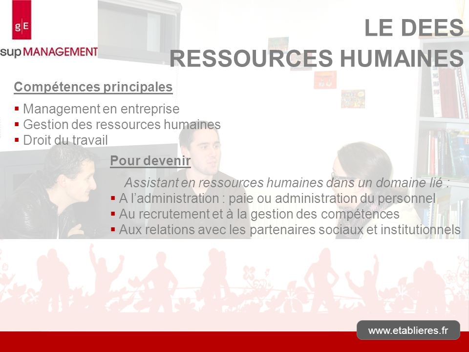 Assistant en ressources humaines dans un domaine lié :