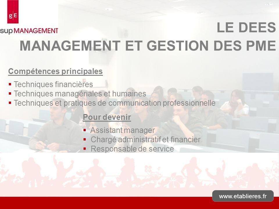 MANAGEMENT ET GESTION DES PME