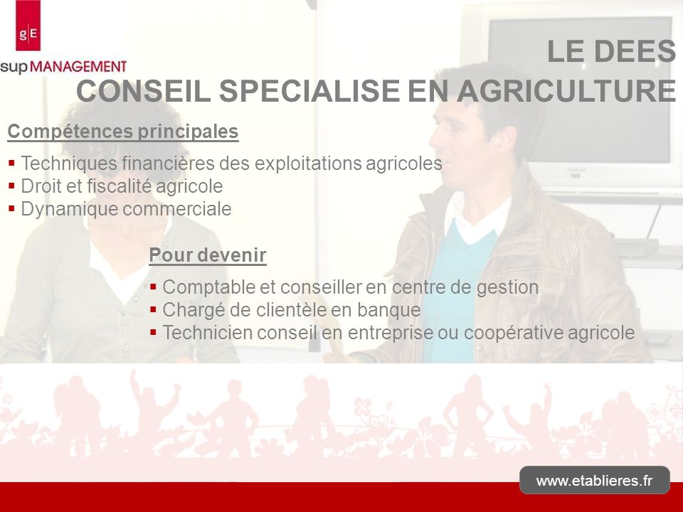 CONSEIL SPECIALISE EN AGRICULTURE