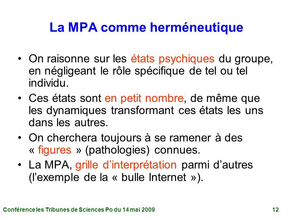 La MPA comme herméneutique
