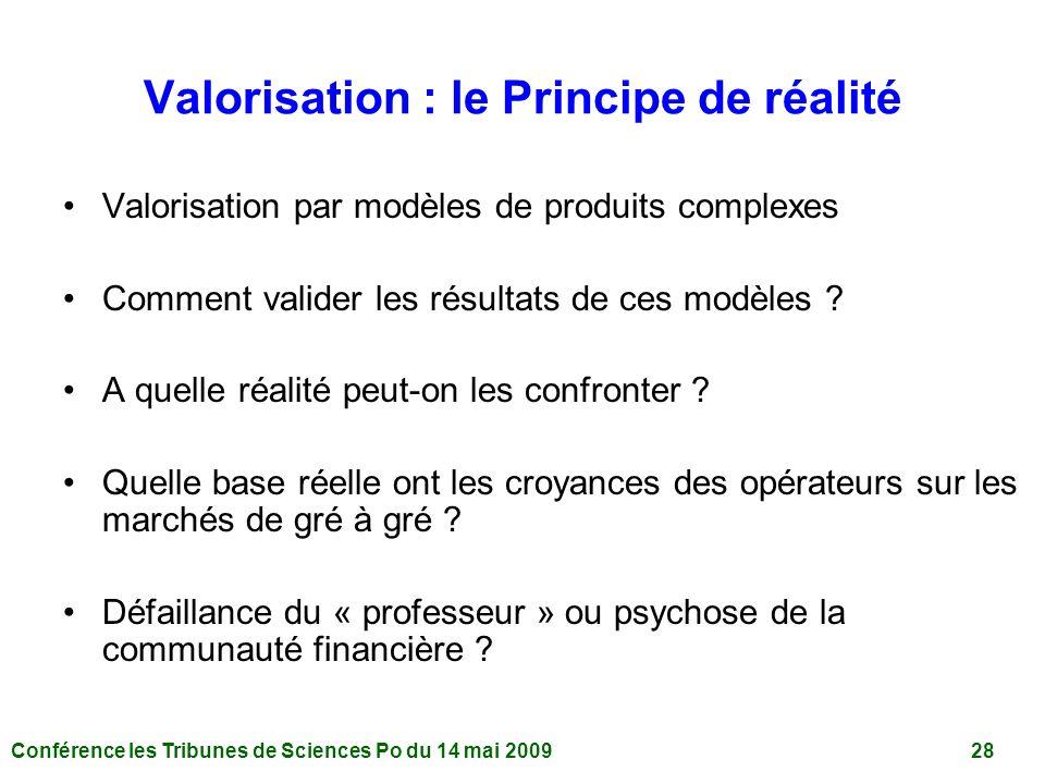 Valorisation : le Principe de réalité