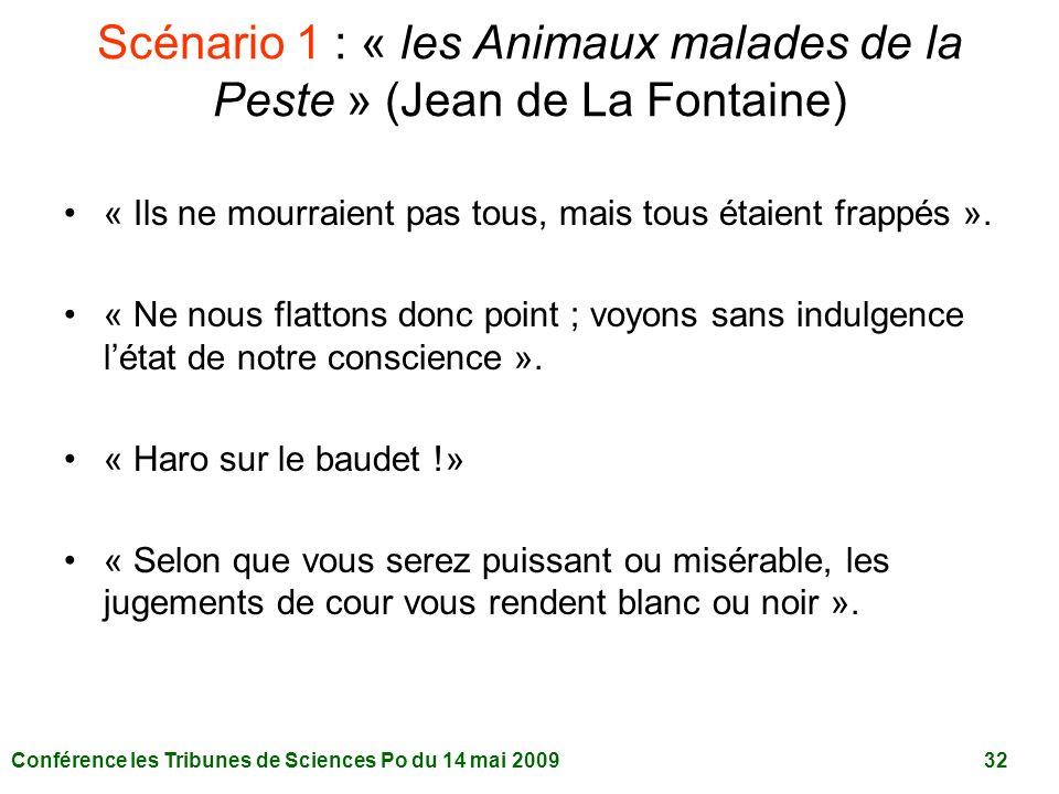 Scénario 1 : « les Animaux malades de la Peste » (Jean de La Fontaine)