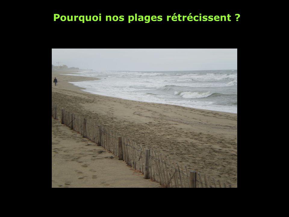 Pourquoi nos plages rétrécissent