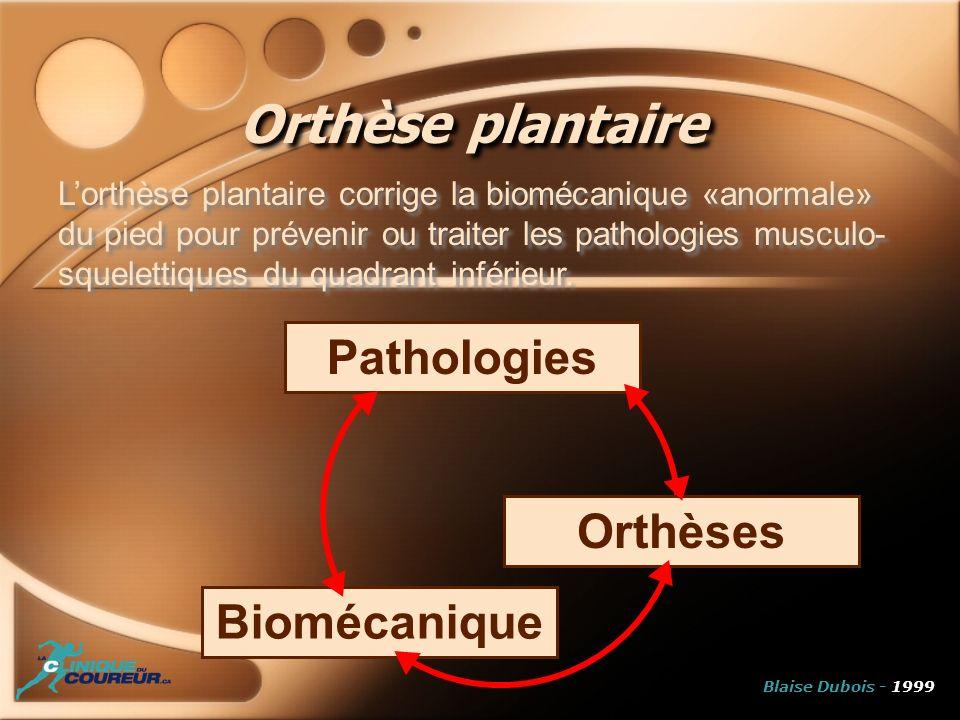 Orthèse plantaire Pathologies Orthèses Biomécanique