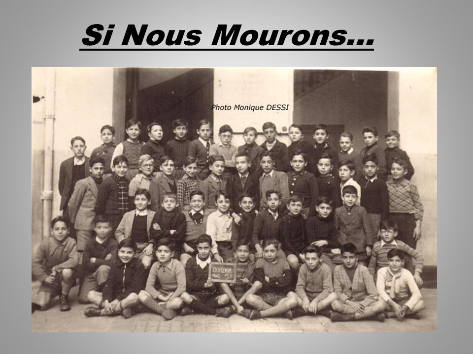 Si Nous Mourons…