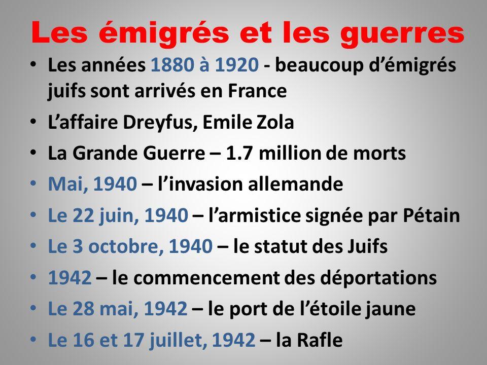 Les émigrés et les guerres
