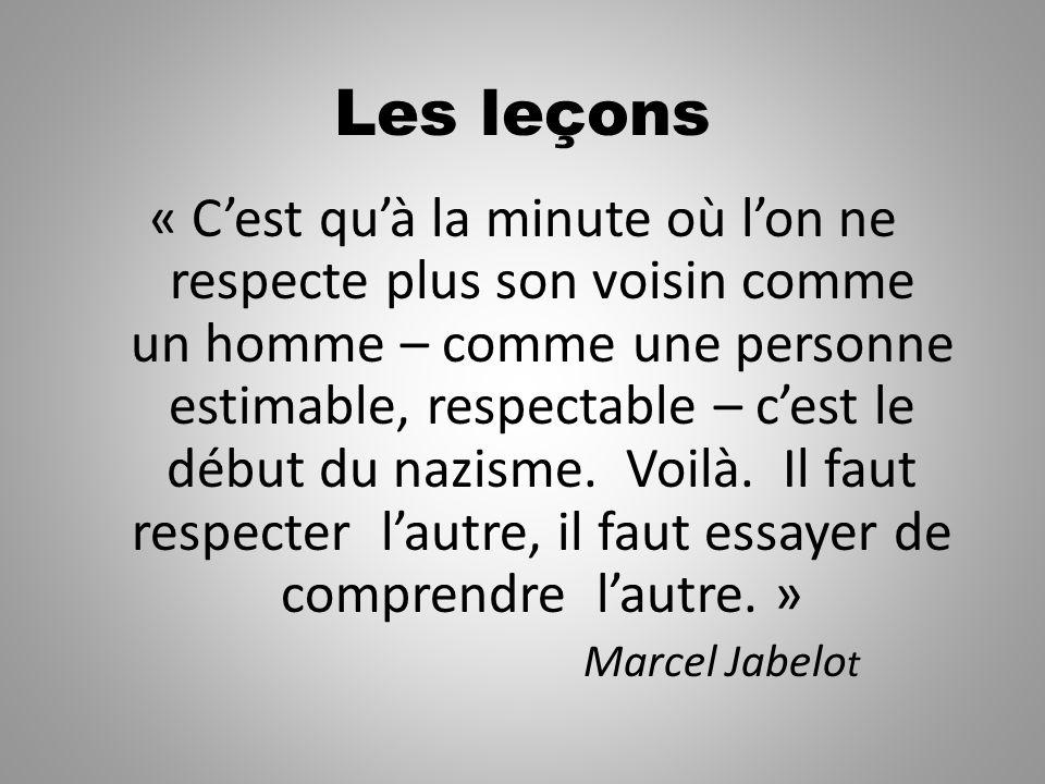 Les leçons