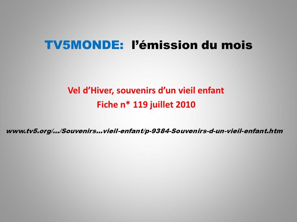 TV5MONDE: l'émission du mois