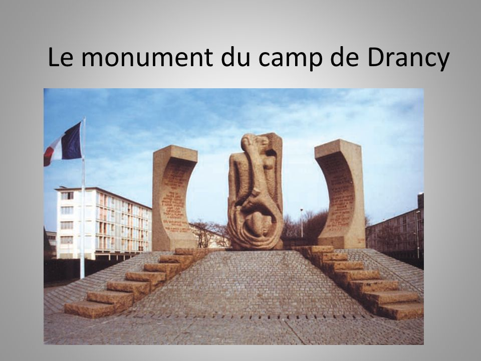 Le monument du camp de Drancy
