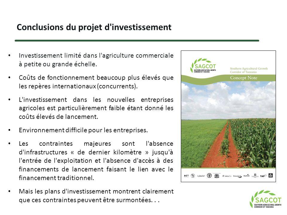 Conclusions du projet d investissement