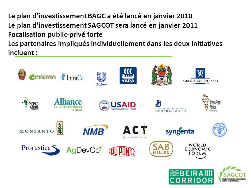 Le plan d investissement BAGC a été lancé en janvier 2010