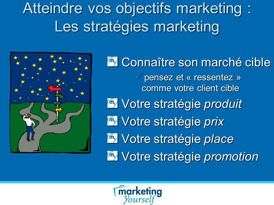 Atteindre vos objectifs marketing : Les stratégies marketing