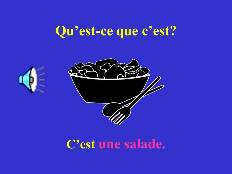 Qu'est-ce que c'est C'est une salade.