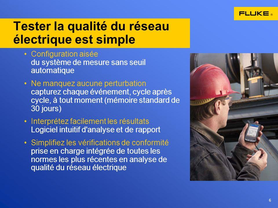 Tester la qualité du réseau électrique est simple