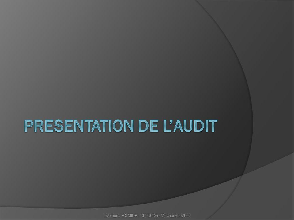 PRESENTATION DE L'AUDIT