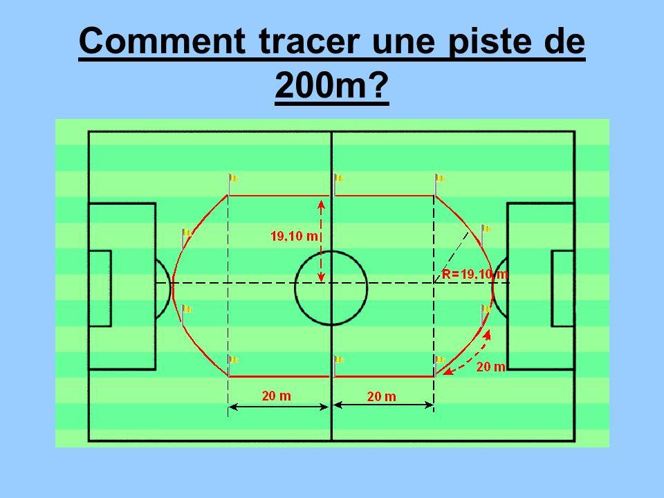 Comment tracer une piste de 200m