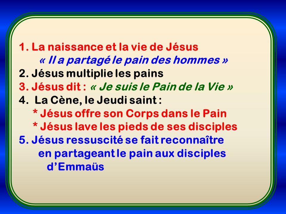 1. La naissance et la vie de Jésus
