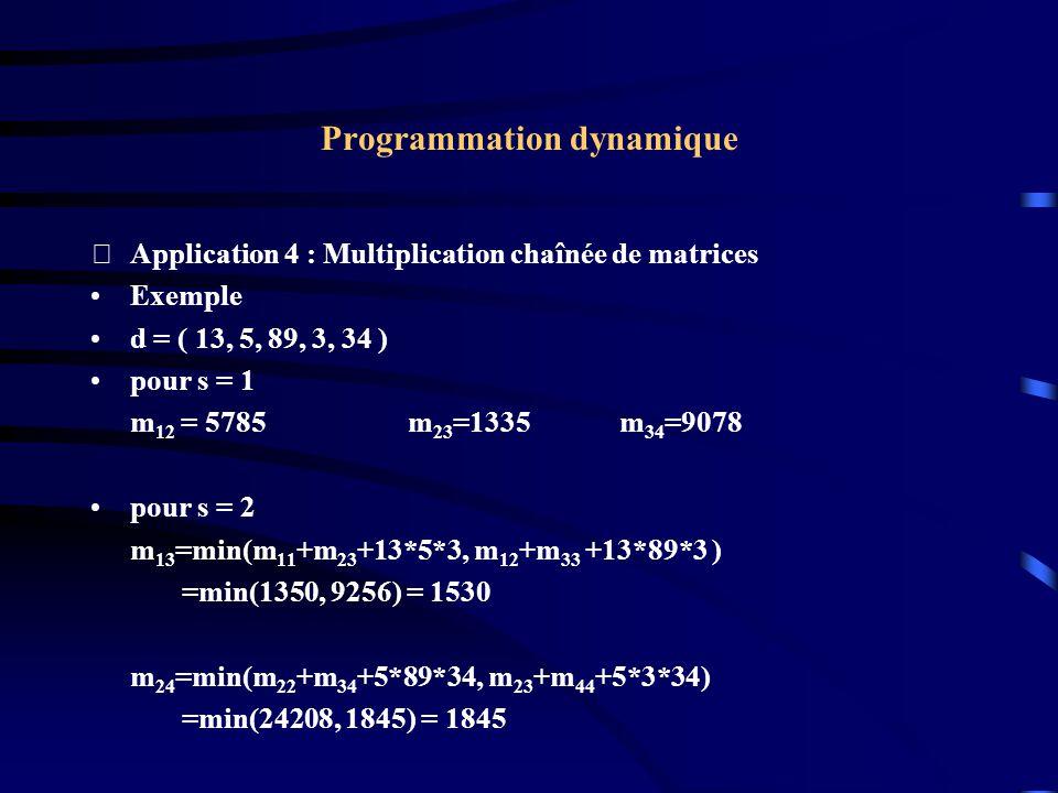 Programmation dynamique