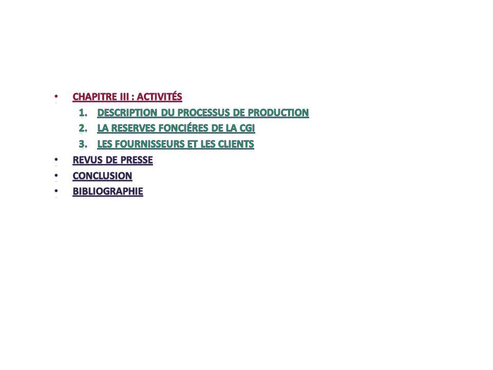 Chapitre III : activités