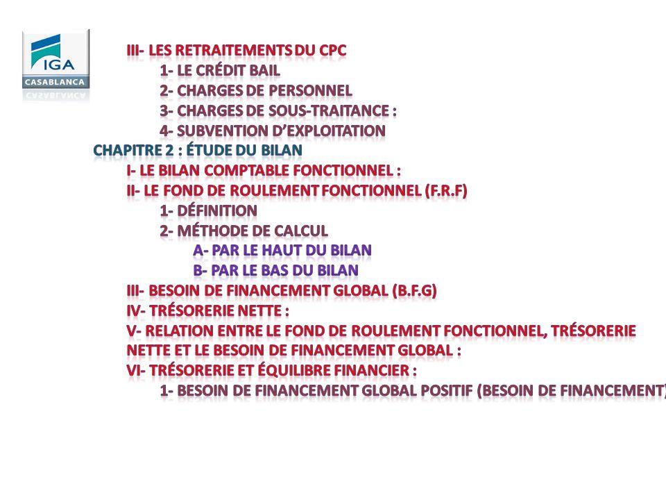 III- Les retraitements du CPC