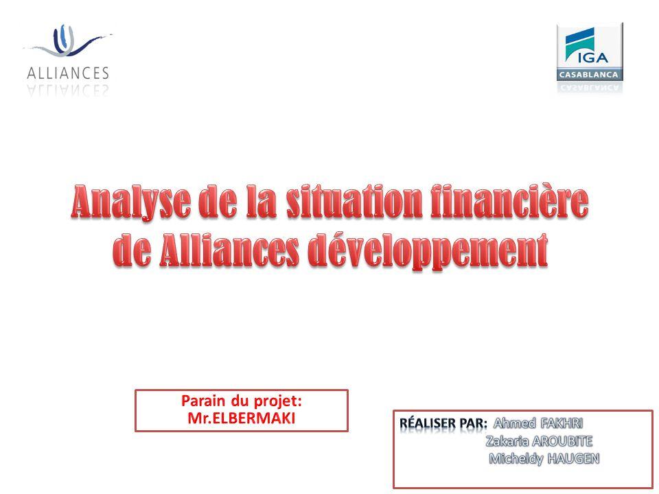 Analyse de la situation financière de Alliances développement