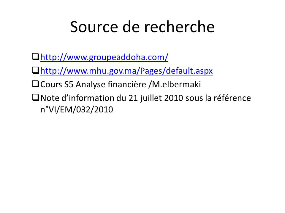 Source de recherche http://www.groupeaddoha.com/