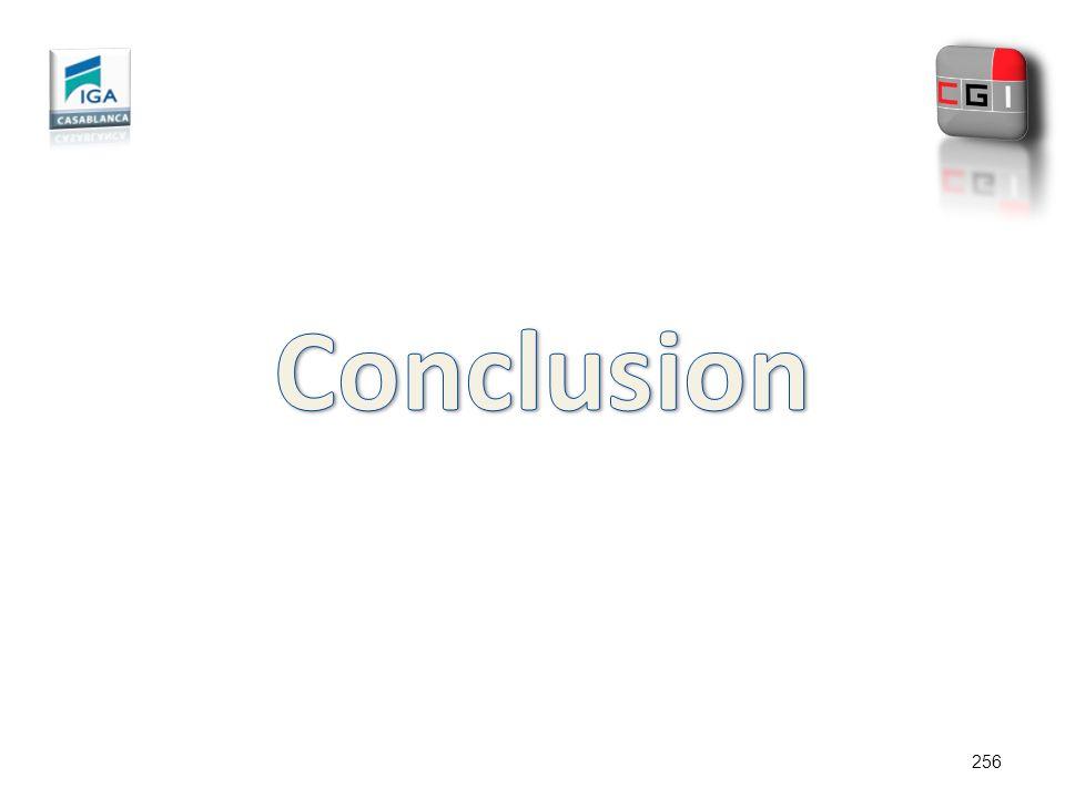 Conclusion 256