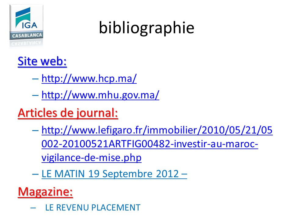 bibliographie Site web: Articles de journal: Magazine: