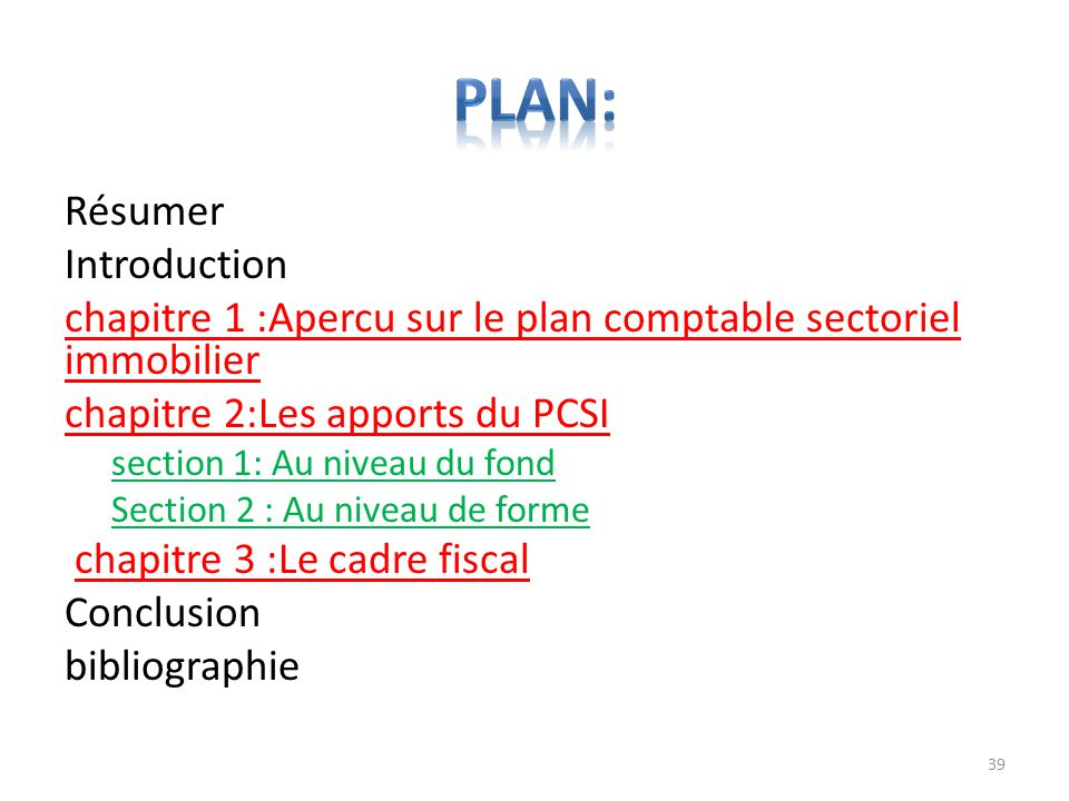 Plan: Résumer Introduction