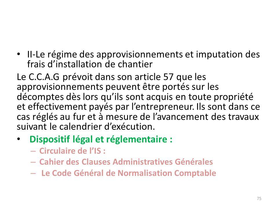 Dispositif légal et réglementaire :