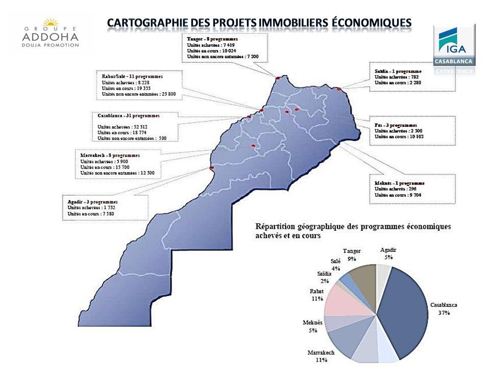Cartographie des projets immobiliers économiques