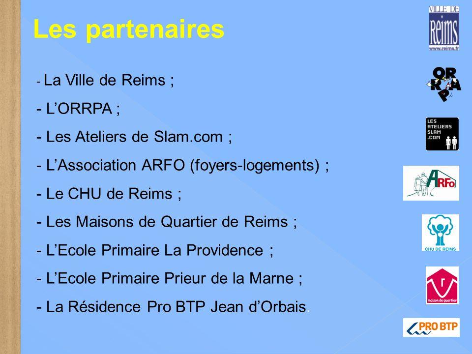 Les partenaires L'ORRPA ; Les Ateliers de Slam.com ;