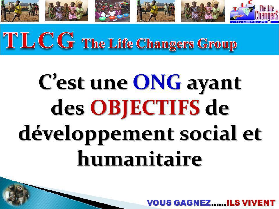 des objectifs de développement social et humanitaire