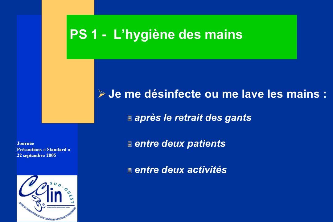 PS 1 - L'hygiène des mains