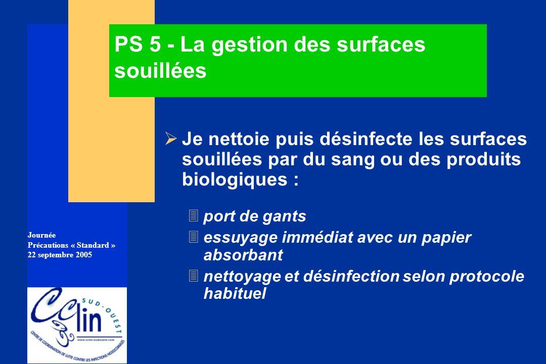 PS 5 - La gestion des surfaces souillées