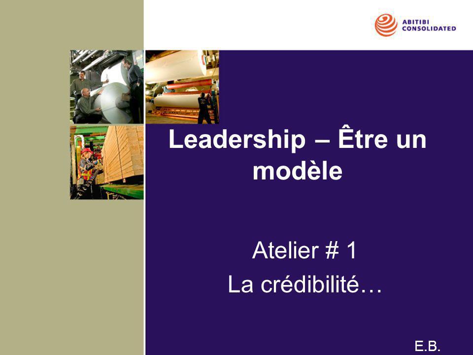Leadership – Être un modèle