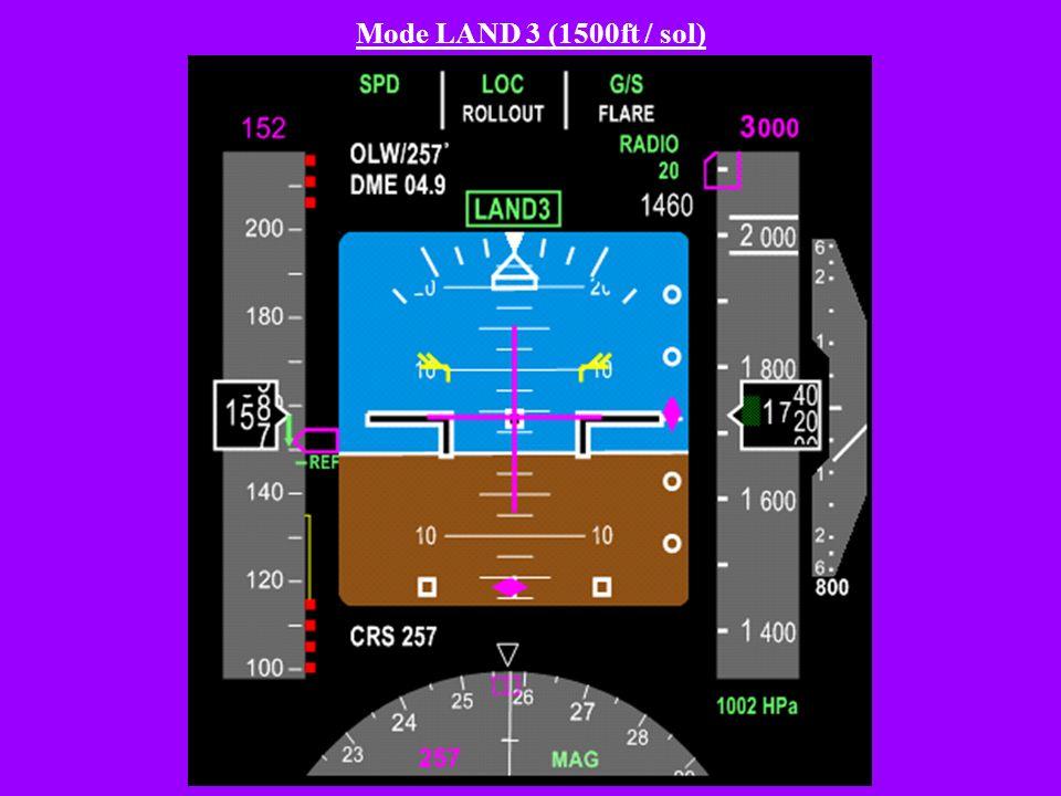 Mode LAND 3 (1500ft / sol)