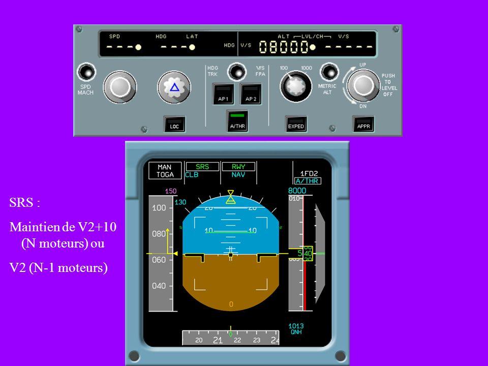 Maintien de V2+10 (N moteurs) ou